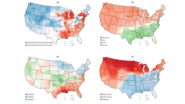 How Americans Speak Differently in Various Regions, Visualized