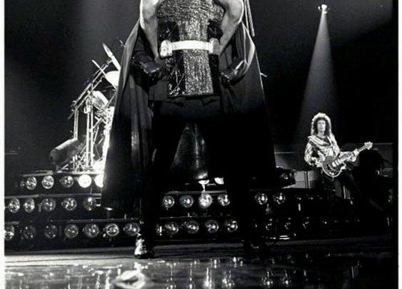 Freddie Mercury on Darth Vader's Shoulders