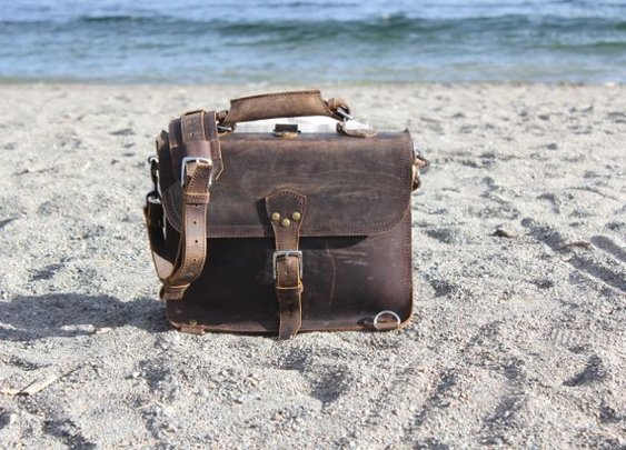 Marlondo Leather Thin Briefcase Photo Review – $309