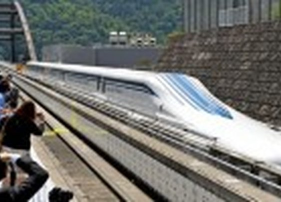 Japan's New 310 MPH 'Floating' Maglev Bullet Train Hits the Tracks for Testing