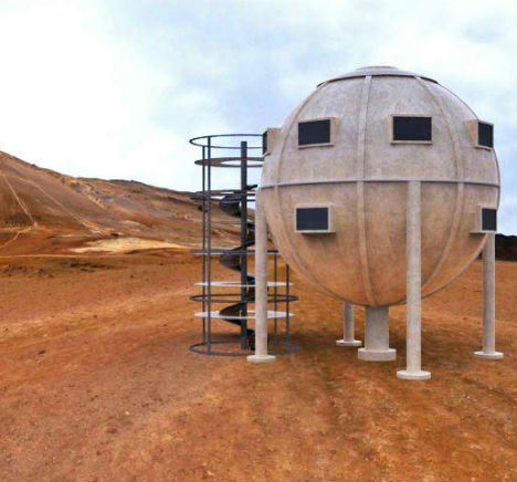 Steampunk Sphere Home is a Prefab Disaster Shelter