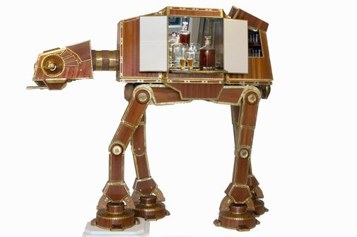 MAKE | Steampunk AT-AT Liquor Cabinet