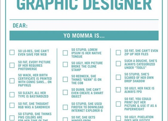 For my fellow graphic designers