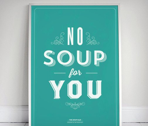 Signfeld Prints - Seinfeld Typography Posters | Cool Material