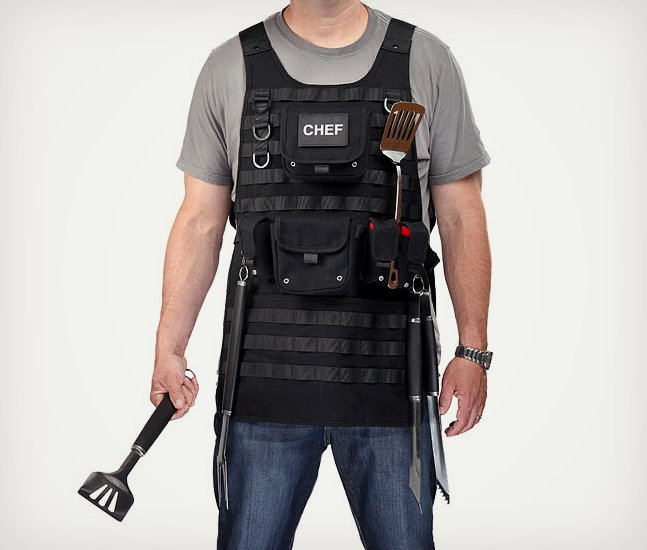 Tactical BBQ Apron with MOLLE System | Cool Material