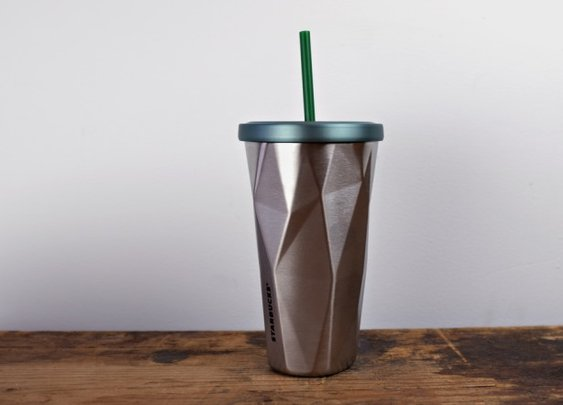 Starbucks Stainless Steel Chiseled Tumbler | Cool Material