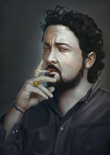 The smoker by lucirgo | Screensuit - Online Art Gallery