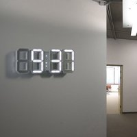 White & White LED Clock