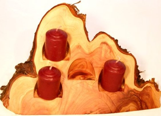 Cedar wedge votive candle holder candelabra by Hope & Grace Pens