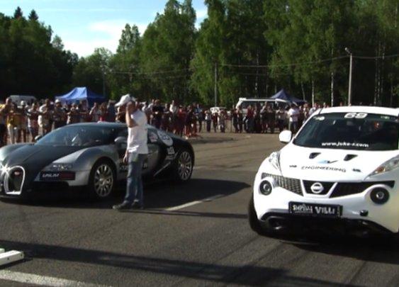Nissan Juke Almost Beat Bugatti Veyron in Drag Race, Amazing Video   NSTAutomotive
