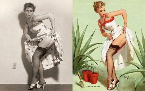 The Photos Behind Gil Elvgren's 1950s Pin-Up Girl Art