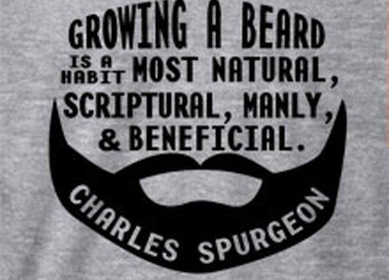 Growing a beard - Spurgeon (Visual  Quote)