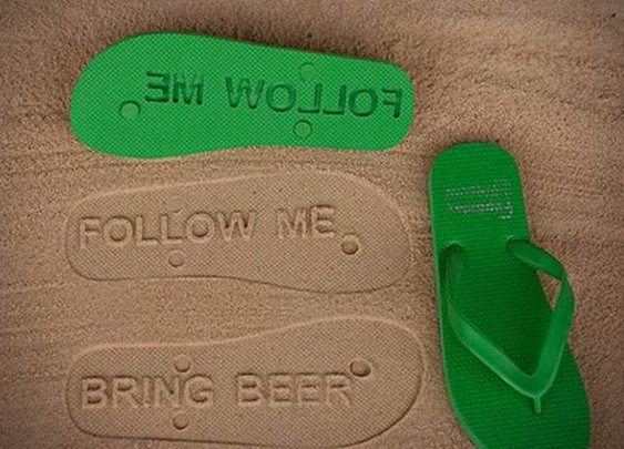Men's Gear: CUSTOM FLIP FLOPS