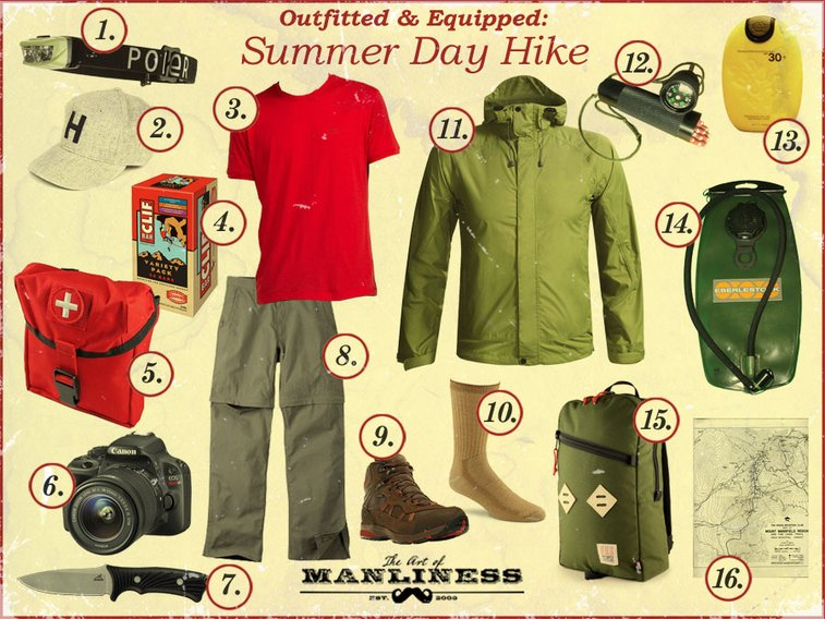 Outfitted & Equipped: Summer Day Hike   The Art of Manliness