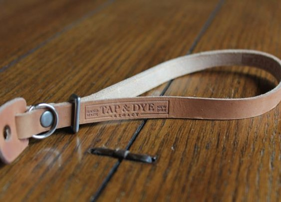 Tap & Dye Leather Camera Wrist Strap – $42