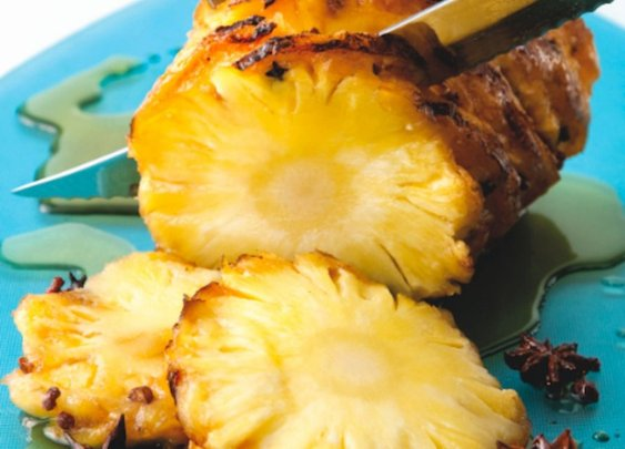 Clove-studded roasted pineapple recipe | Food Republic