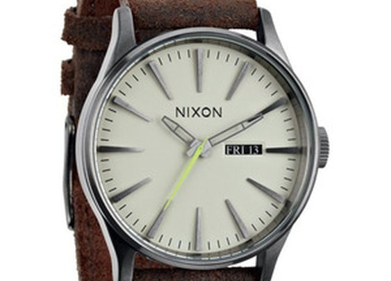 The Nixon Sentry Leather Watch