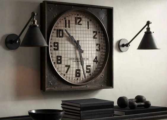Vintage Industrial 1940s Gymnasium Clock | Cool Material