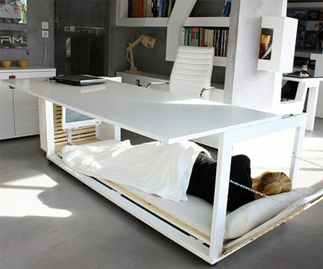 Sluggish After Lunch? Take a Nap in This Transforming Desk
