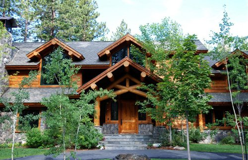 Log Accent Cabin