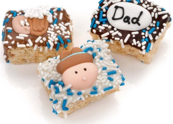 usa Chocolate  - Father's Day Chocolate Dipped Mini Crispy Rice Bars- Individually Wrapped