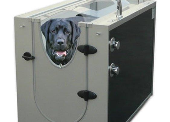 The Canine Shower Stall - Hammacher Schlemmer