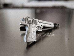 Silver Gun Tie Clip, Matte – Suited Man