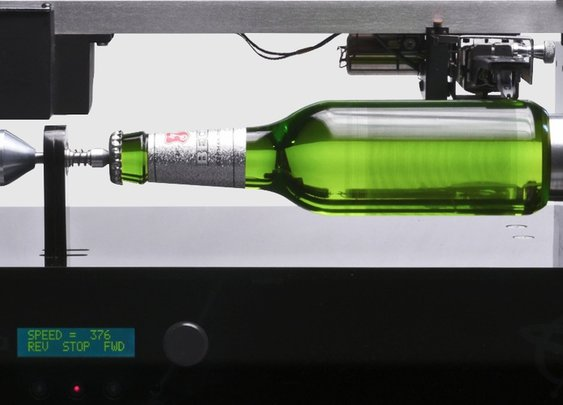 You can play this beer bottle like a record