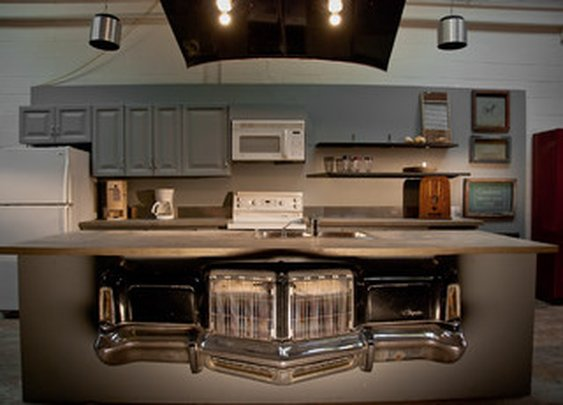 Kitchen Island with a Chrysler Front End