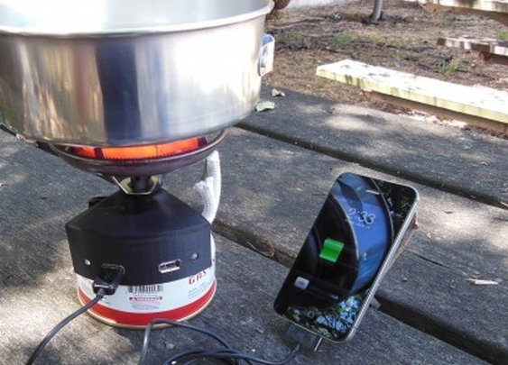 Halo combines canister stove and fuel cell charger