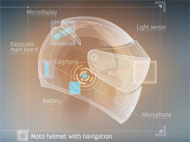 Futuristic Motorcycle Helmet!