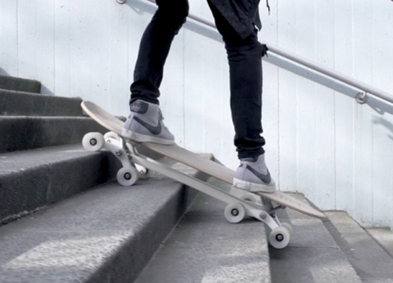 Stair-descending skateboard hits Kickstarter