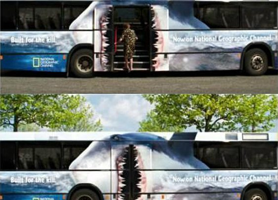 Clever bus ads from National Geographic