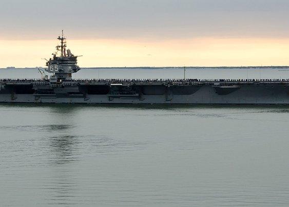 USS Enterprise (CVN 65) Prepares for Journey Home