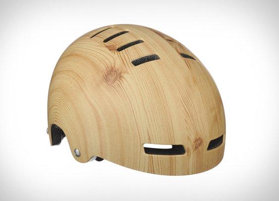 Lazer Sport Street Deluxe Woodgrain Helmet | Uncrate