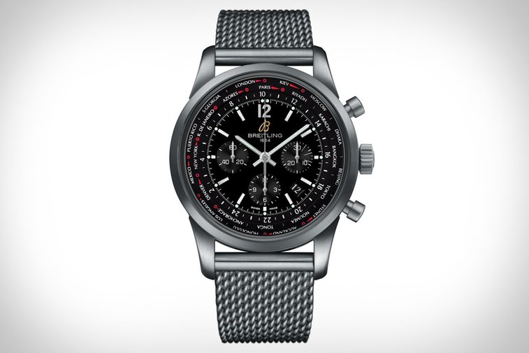 Breitling Transocean Chronograph Unitime Pilot Watch | Uncrate