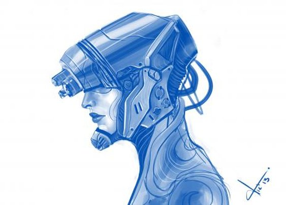 F Helmet sketch by vic_lefou | Screensuit - Online Art Gallery