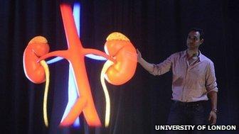 BBC - Huge 'holograms' offer medics more memorable classes