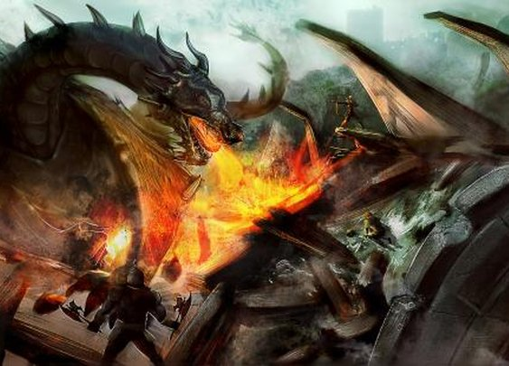 Something with dragons by vic_lefou | Screensuit - Online Art Gallery