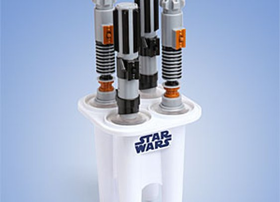 ThinkGeek :: Star Wars Glowing Lightsaber Ice Pop Maker