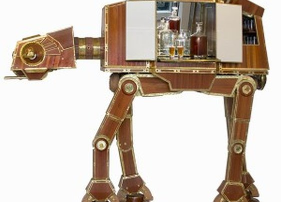 Steampunk AT-AT Liquor Cabinet