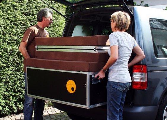 QUQUQ transforms a van to a camper within a minute