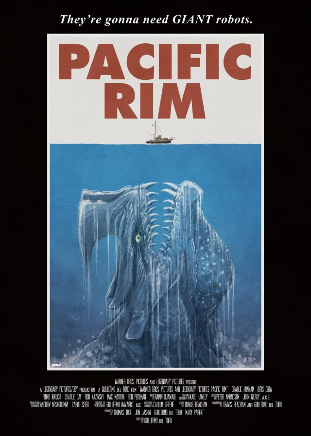 Jaws style Pacific Rim Poster