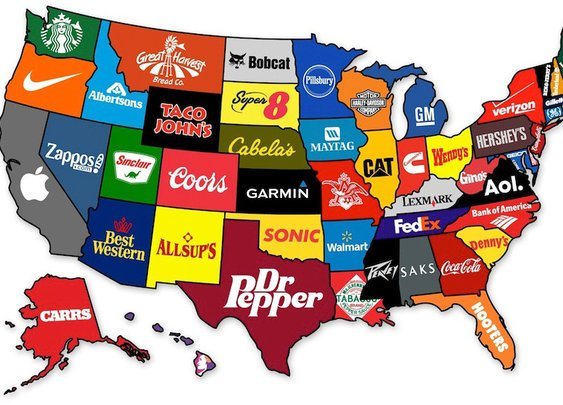 What the Most Famous Brands Are from Each State