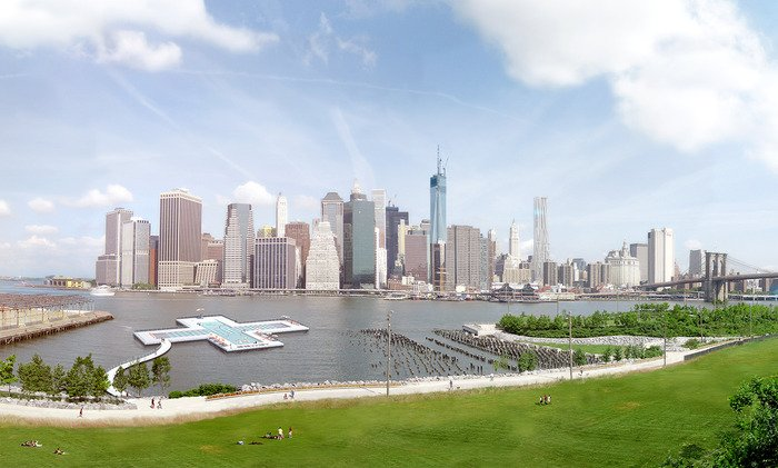 Very Interesting Kickstarter Project- A floating pool in New York's East River