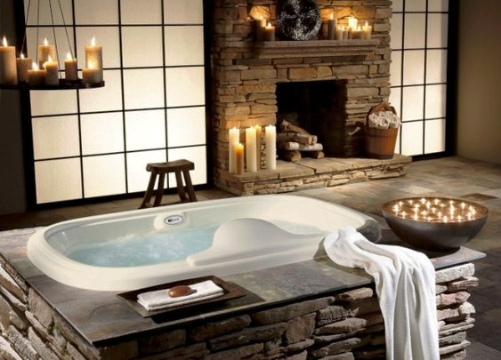 Transform the Bathroom into a Personal Spa area