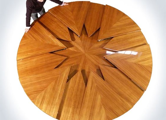 Fletcher Capstan - World's Coolest Expandable Table | DudeIWantThat.com