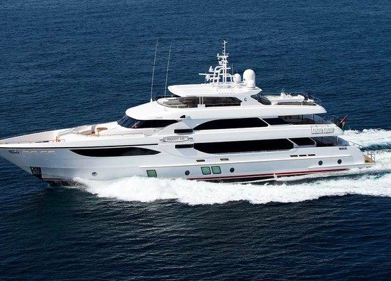 The grand superyacht Majesty 135