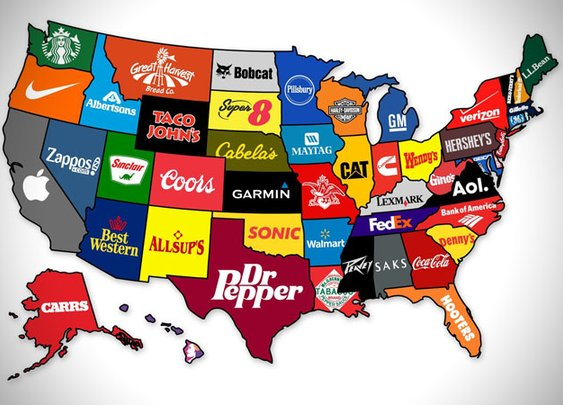 Corporate States Of America Map