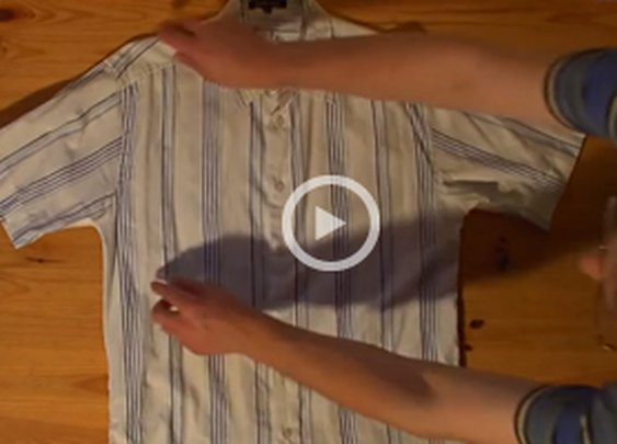 How to Fold a Shirt in Under 2 Seconds Video | Cool Material